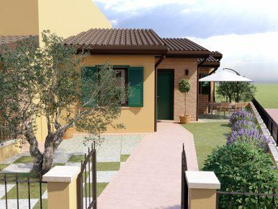 Villetta a schiera angolare con giardino e garage, Montepulciano, Siena